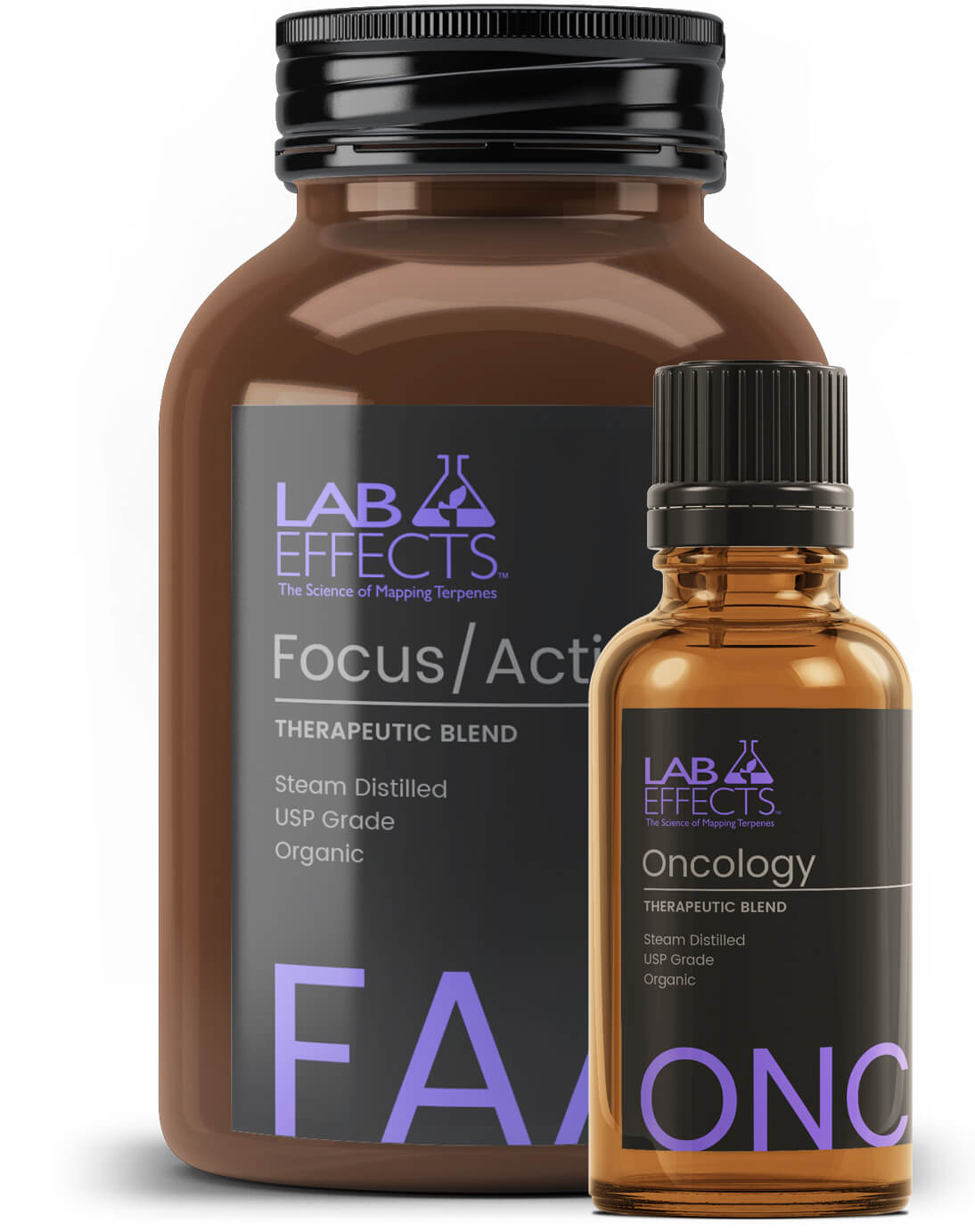 Focus Oncology Therapeutic Blends Lab Effects Bottles