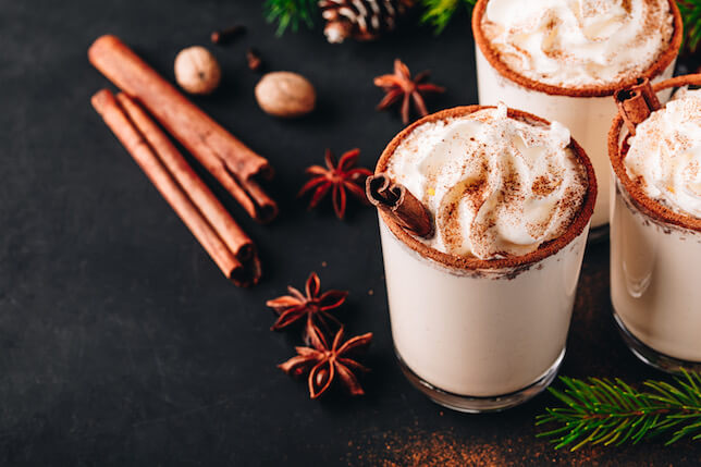 Holiday Terpene Recipe: Cannabis Essence Whipped Cream & CBD Eggnog (Dairy Free)
